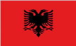 Albania Large Country Flag - 3' x 2'.